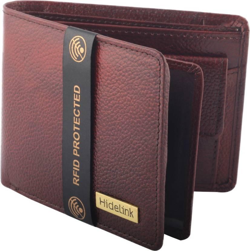 071c8a47f42 Hidelink Men Formal Brown Genuine Leather Wallet Brown - Price in ...