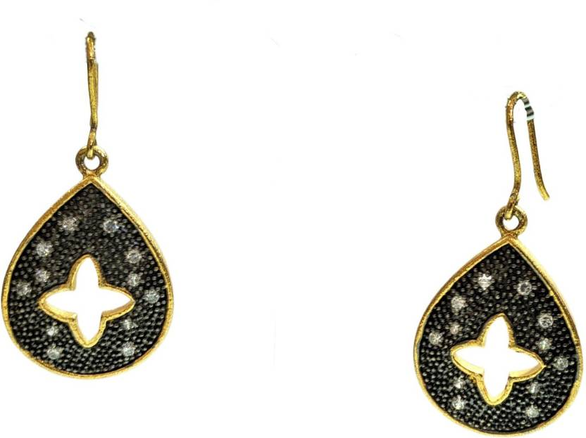 2eecab618eaf5 Flipkart.com - Buy Grassroot Galery Black and Gold Trendy Earrings ...