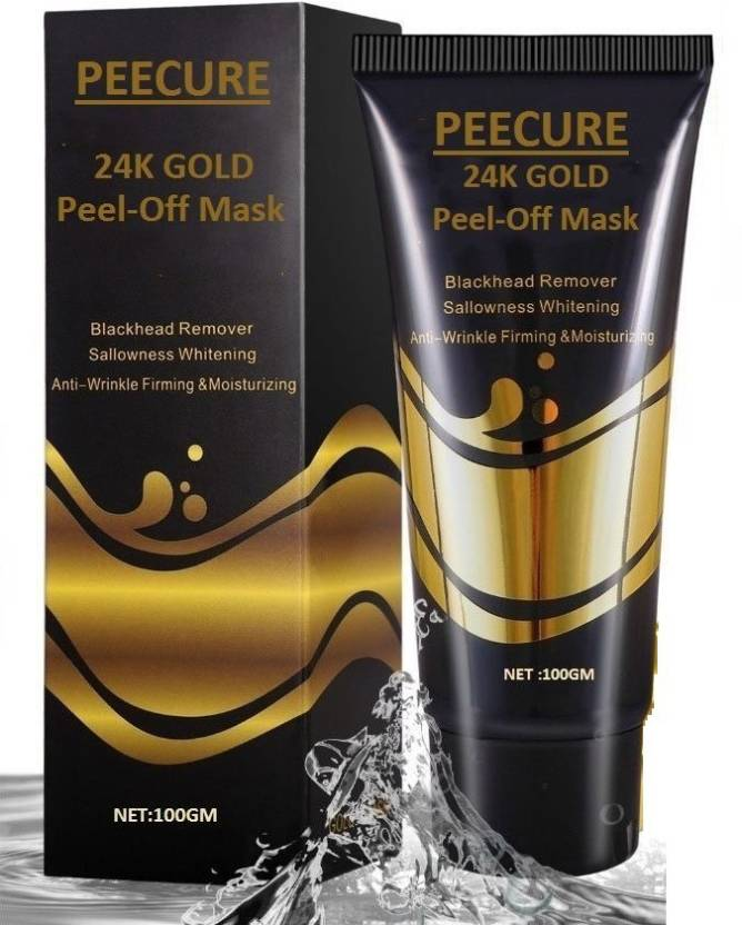 Peecure Golden Peel Off Mask like Activated Charcoal Peel Off Black Face  Masks Deep Cleansing For Blackhead Remover For Men and Women (100 g) 6136cbff12