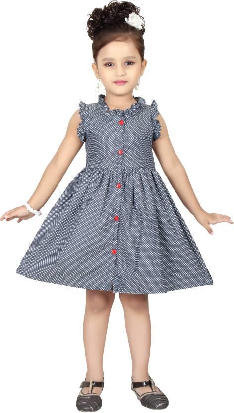 Funny Baby Girls Midiknee Length Party Dress Price In India Buy