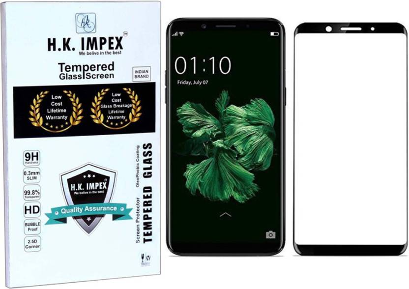 online retailer e78e3 7d473 H.K.Impex Edge To Edge Tempered Glass for OPPO F5 (5D Tempered glass)(full  body cover)