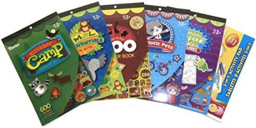 Generic Kids Sticker Books Set of 5 with Activity Pad
