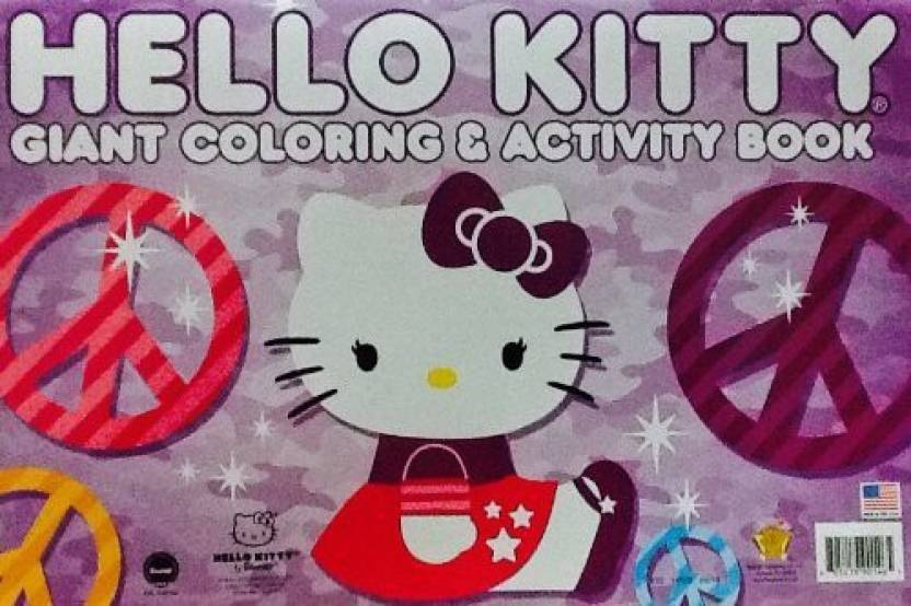 Generic Hello Kitty Purple Cover Oversized Giant Coloring Activity Book Games