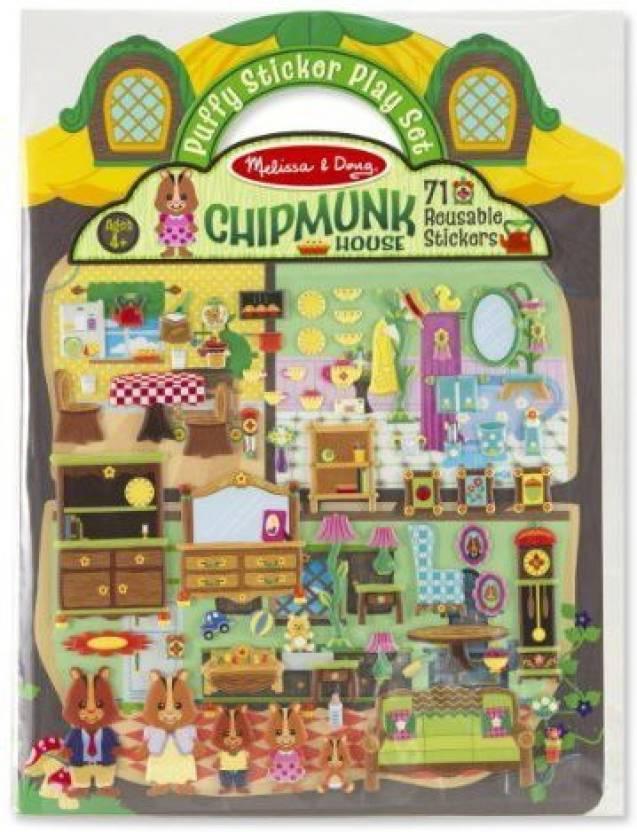 Generic Chipmunk House Puffy Sticker Play Set Free Melissa Doug