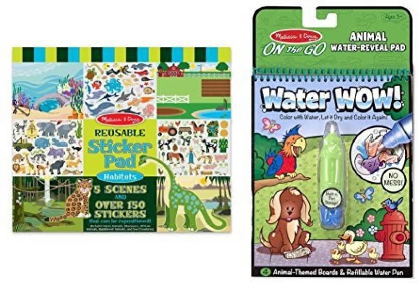 Generic Bundle Including Melissa Doug Habitats Reusable