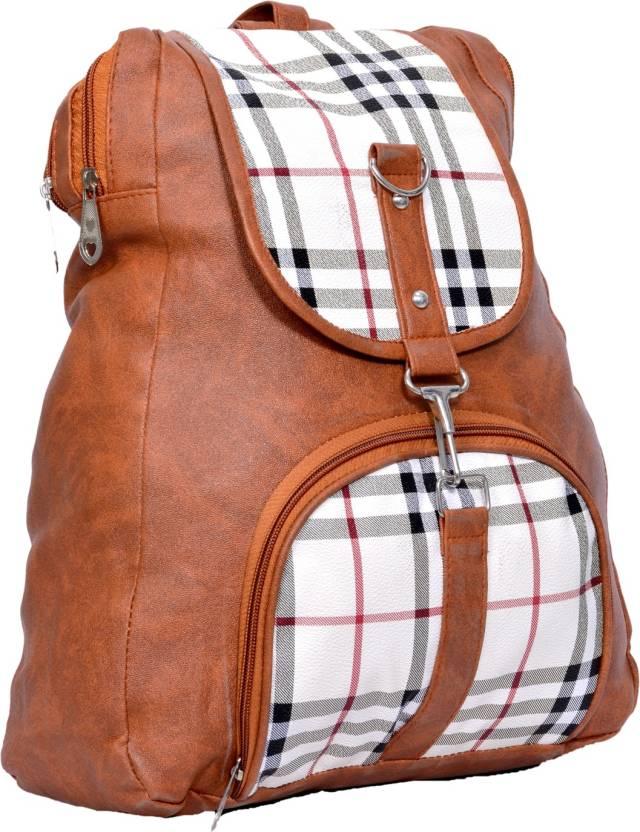 578084fde6 CLASSIO Stylish Girls School bag College Bag Studded Women s   Girls Backpack  Handbags brown Waterproof Shoulder Bag (Brown