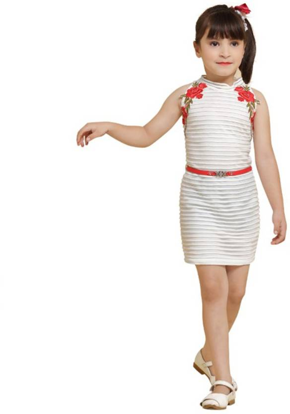 cd89856b0 LEI-CHIE Girls Mini Short Casual Dress Price in India - Buy LEI-CHIE ...