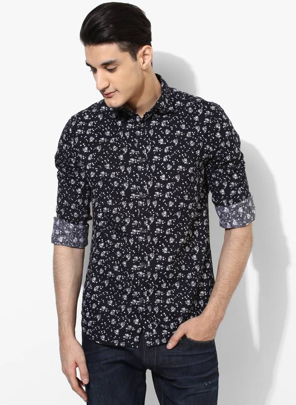 1a6543ca8f Jack   Jones Men Printed Casual Black