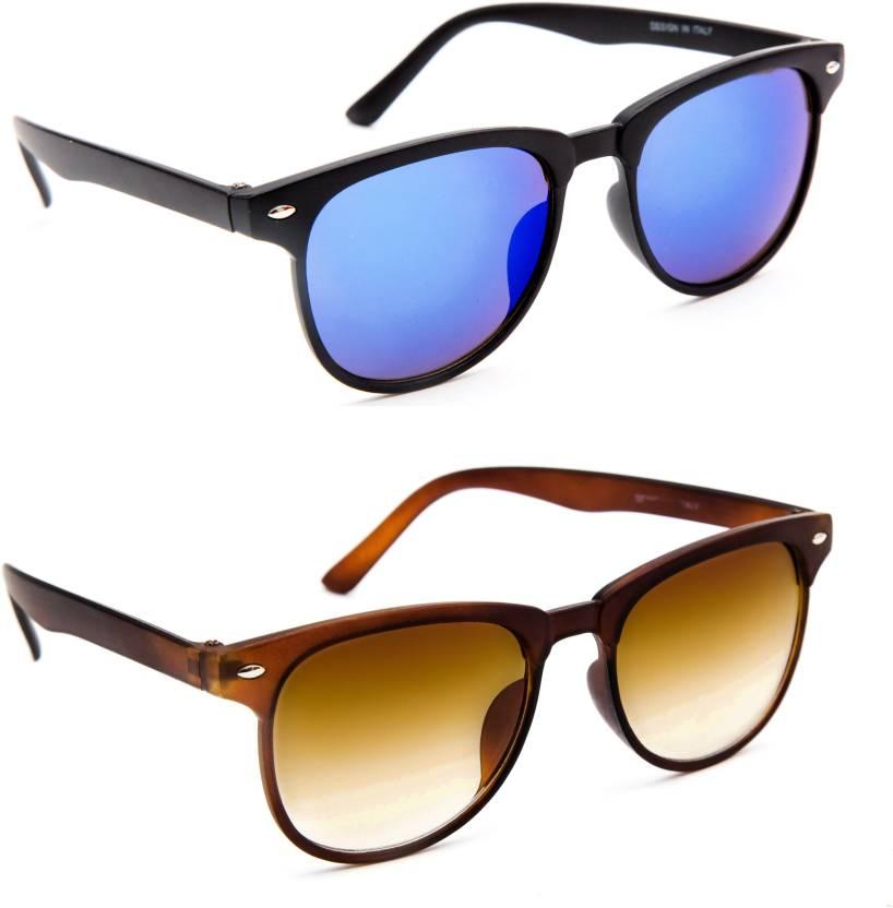 0fde099ae6a8 Buy TheWhoop Wayfarer Sunglasses Blue, Brown For Men & Women Online ...