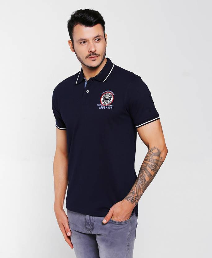 ff2ed849 FBB - Lee Cooper Solid Men Polo Neck Blue T-Shirt - Buy FBB - Lee Cooper  Solid Men Polo Neck Blue T-Shirt Online at Best Prices in India |  Flipkart.com