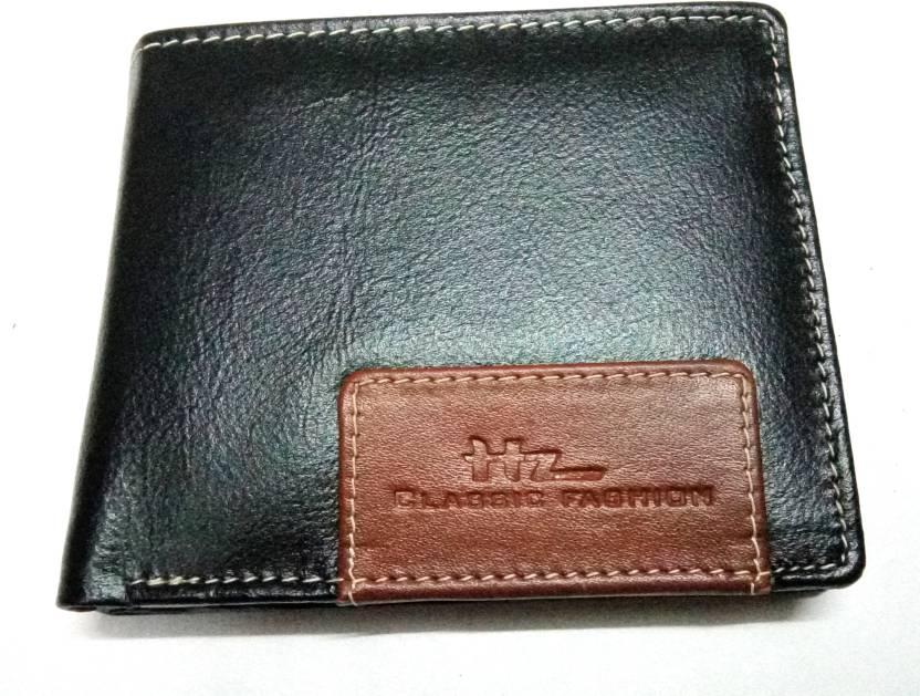 c373f65084574 Classic Fashion Men Black Genuine Leather Wallet Black - Price in ...