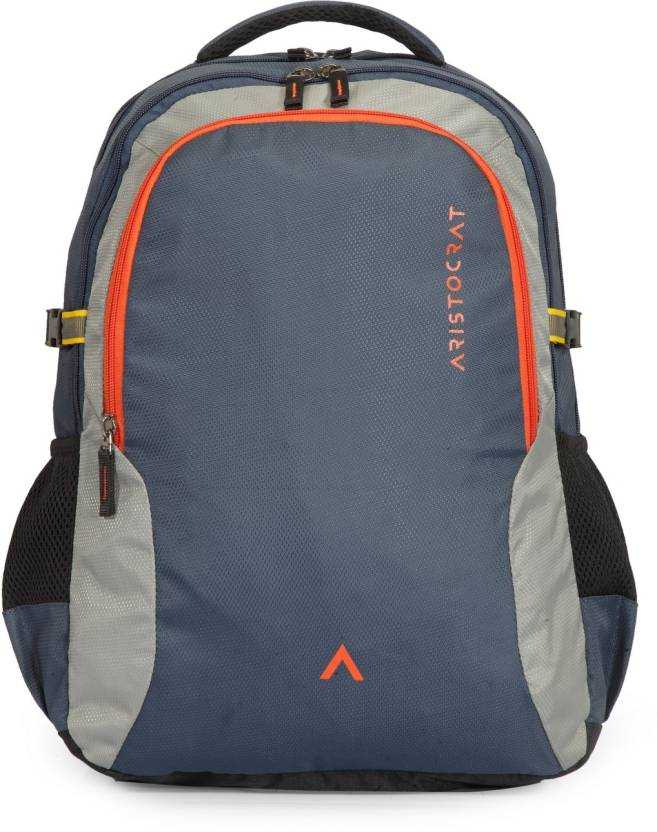 Aristocrat Grid 2 34 L Laptop Backpack Navy Blue - Price in India ... 33aafbdb453ba