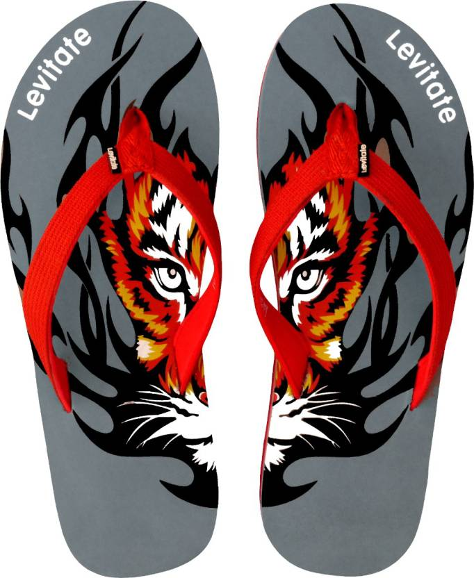 c2d5e008f Levitate Tiger Flip Flops - Buy Grey Red Color Levitate Tiger Flip Flops  Online at Best Price - Shop Online for Footwears in India