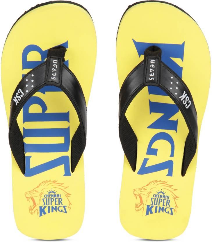 02d790fcc Seven By MS Dhoni CSK Flip Flops - Buy Seven By MS Dhoni CSK Flip Flops  Online at Best Price - Shop Online for Footwears in India   Flipkart.com