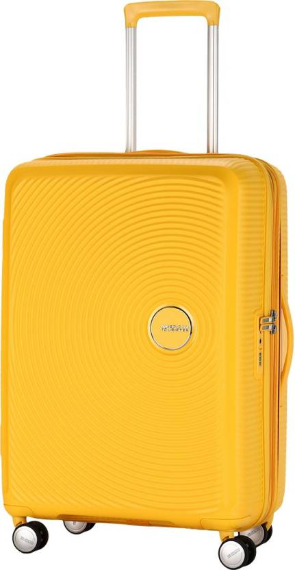 American Tourister Curio Spinner Expandable Check-in Luggage - 27 inch  (Yellow) 2f9c930e49
