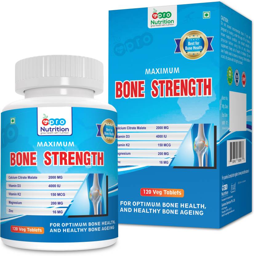 ProNutrition Bone Strength with Calcium Citrate (2000 MG), Vitamin D3 (4000  IU