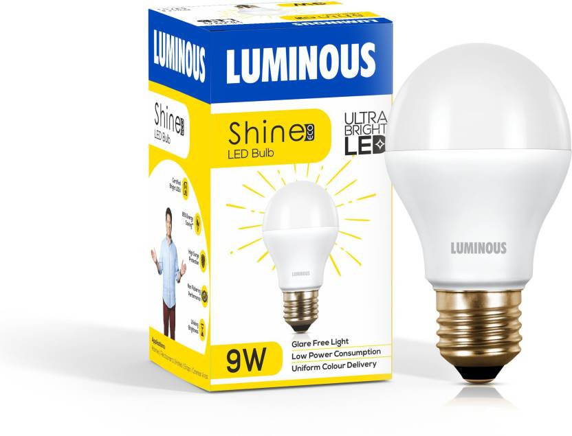 Luminous 9 W Round E27 Led Bulb Price In India