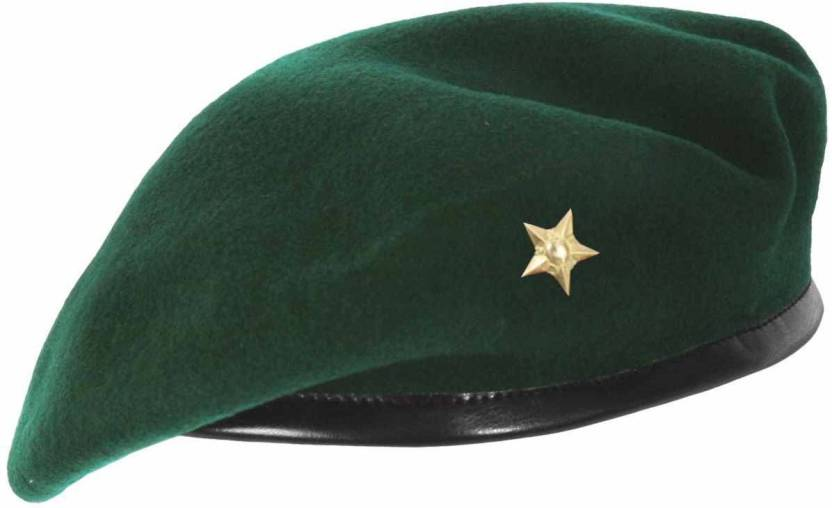 16afb751 Giabella Solid Unisex French Woolen Beret Cap, Rajputana cap, Traditional  Army Style Cap,