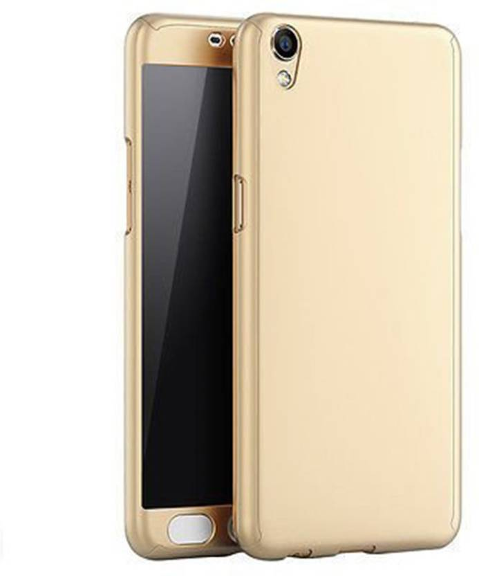 Loopan Front & Back Case for Vivo Y51 360 Degree Full Body Protection with Tempered Glass - (Gold) (Gold, Dual Protection, Plastic)