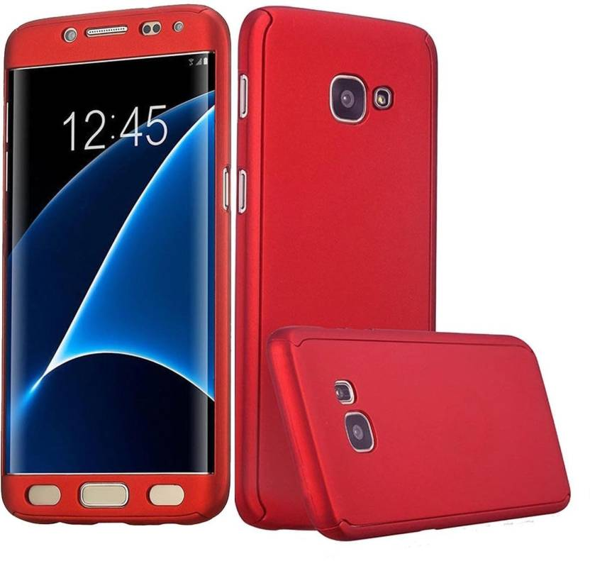 2405de5844 HRV Front & Back Case for Samsung Galaxy J7 Prime 360 Degree Full Mobile  Protection Cover Comes With Tempered Glass (RED, Dual Protection, Plastic)