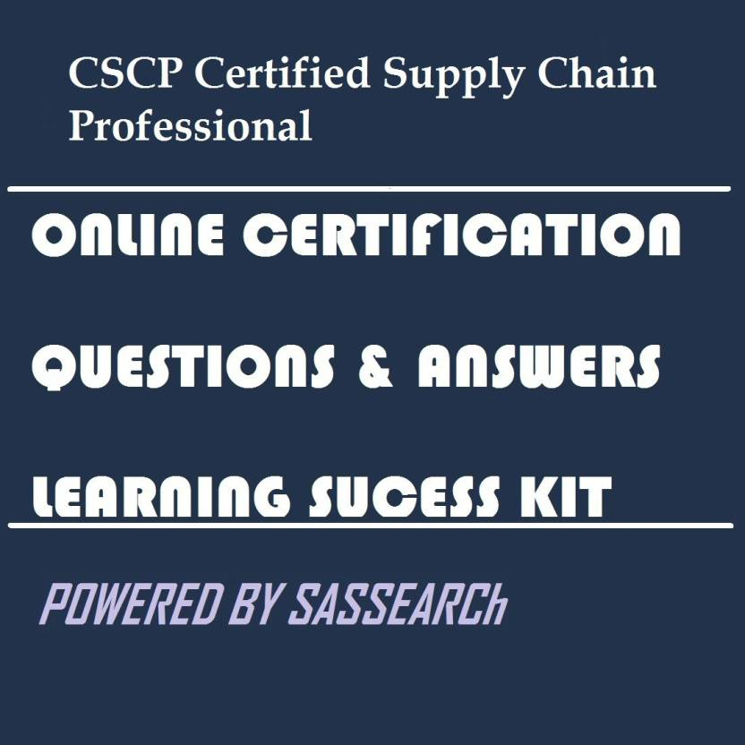 Sapsmart Cscp Certified Supply Chain Professional Online
