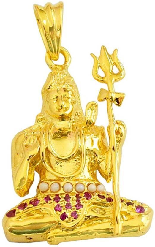 Sterling Silver Brahma Vishnu Lord Shiva Pendants