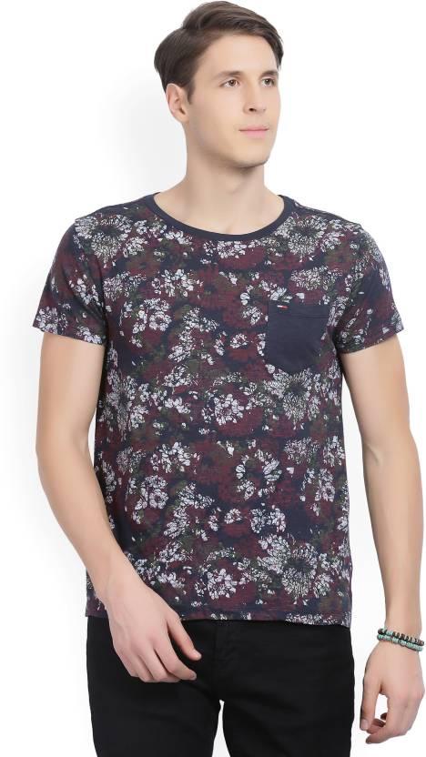 5352834c Tommy Hilfiger Floral Print Men's Round Neck Multicolor T-Shirt - Buy Black Tommy  Hilfiger Floral Print Men's Round Neck Multicolor T-Shirt Online at Best ...