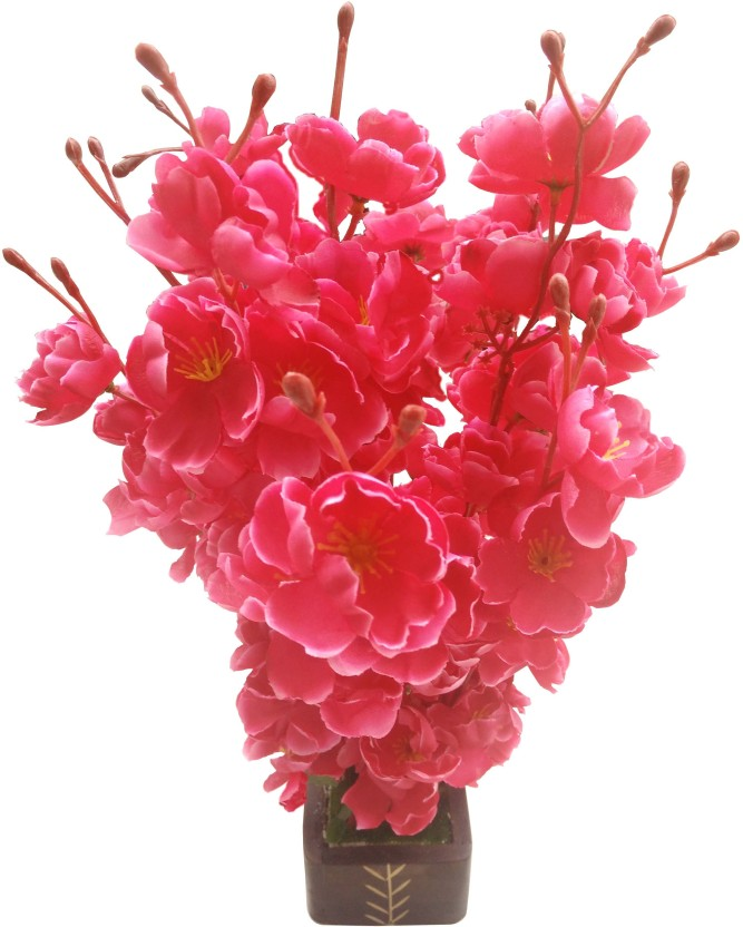 251 & Sofix Artificial Flower With Pot Orchid Blossom Home Decor ...