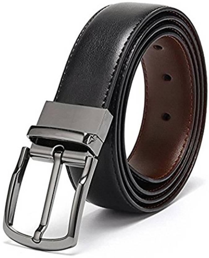 e2165893dac Dinor Men   Women Black Genuine Leather Belt Black