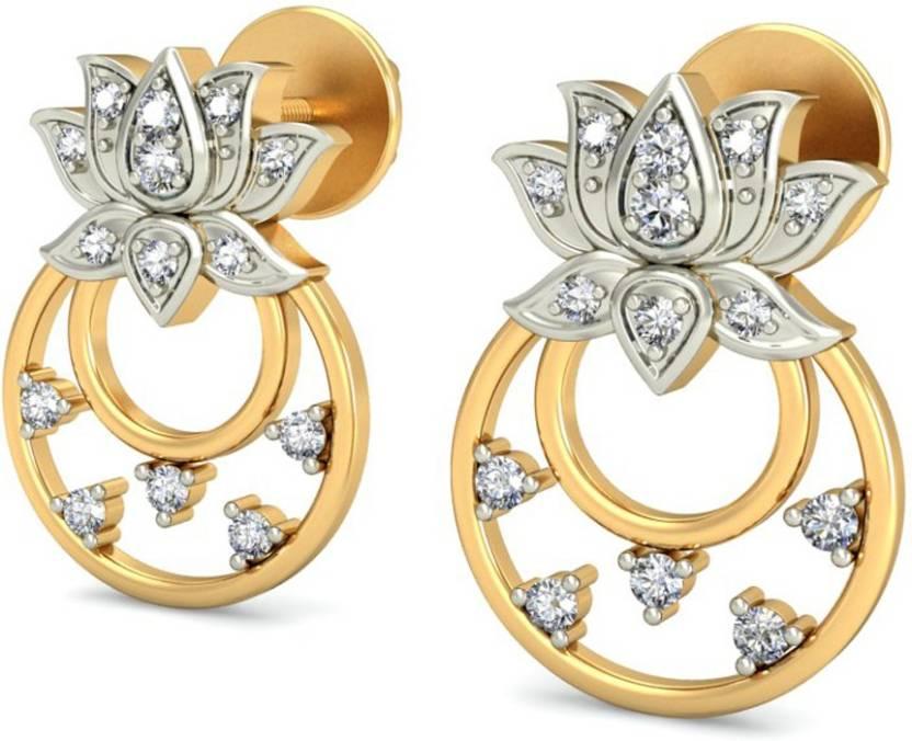 2a848172169bb Flipkart.com - Buy AMANTRAN EARRINGS Diamond Silver Stud Earring ...