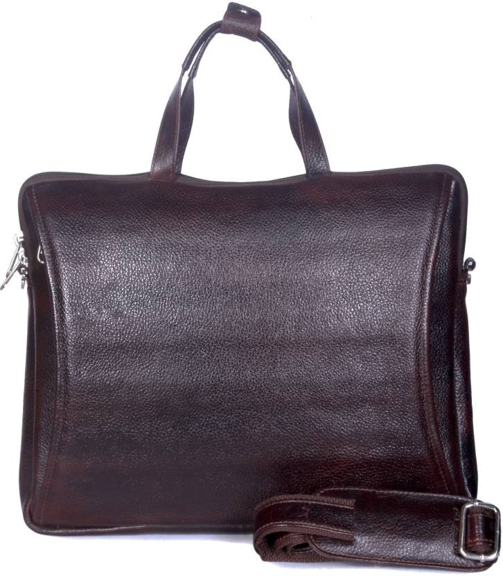 f077a7ed56 Leather Giant 15 inch Laptop Messenger Bag Chocolate - Price in ...