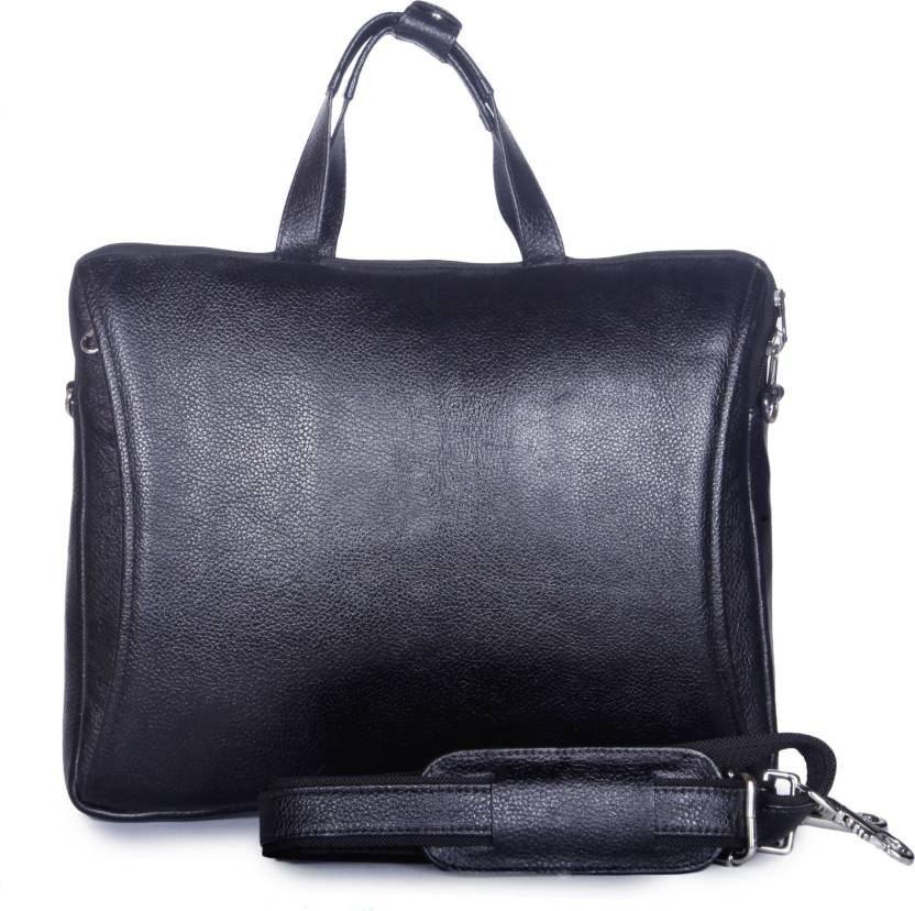 d7bf72cdb6 Leather Giant 15 inch Laptop Messenger Bag Black - Price in India ...
