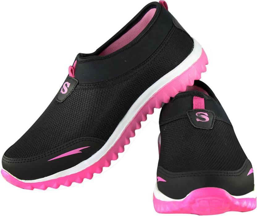 3b972be4b NMD Women Black Pink Women No Lace Casuals (Ultra Lightweight Sole ) Running  Shoes For Women (Black)