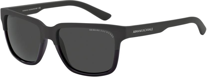 24cf18d26eec Buy Armani Exchange Wayfarer Sunglasses Grey For Men   Women Online ...