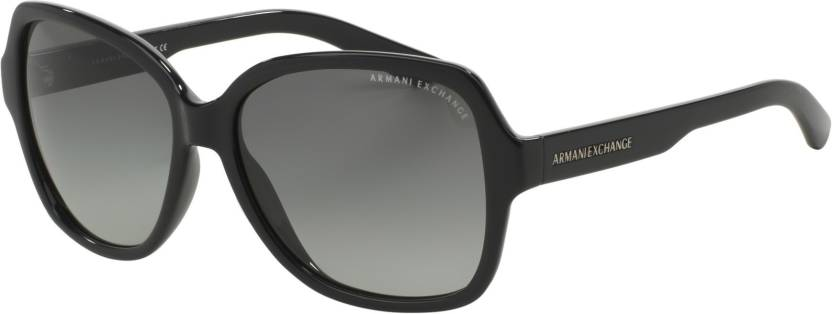305799a7812 Buy Armani Exchange Over-sized Sunglasses Grey For Women Online ...