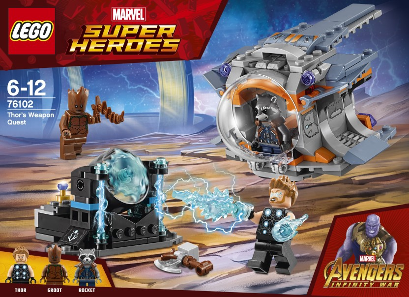 Lego Marvel Super Heroes Thor/'s Weapon Quest 76102 Kids Building Blocks New Toy