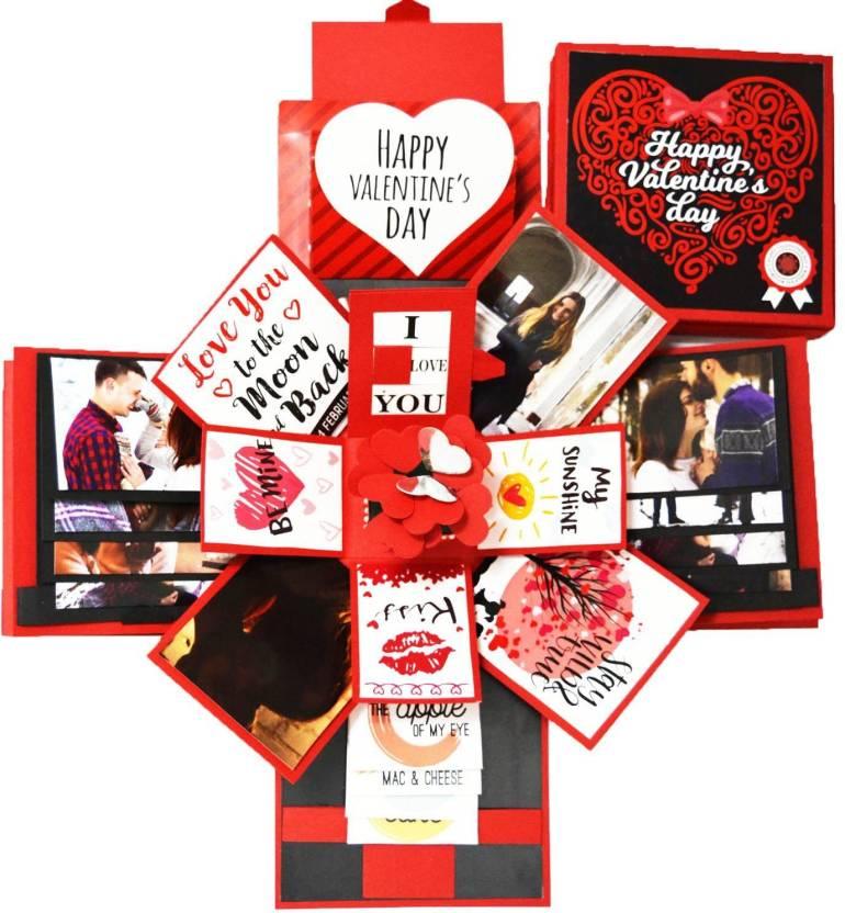 Decut Explosion Box 3 Layered Handmade Valentine Romantic Gift