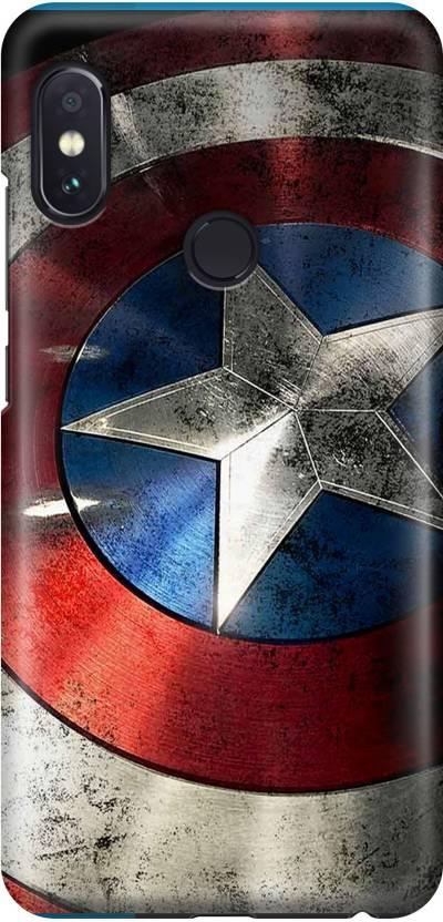 b32b2c8ff Arcent Back Cover for Mi Redmi Note 5 Pro (marcel captain america shield