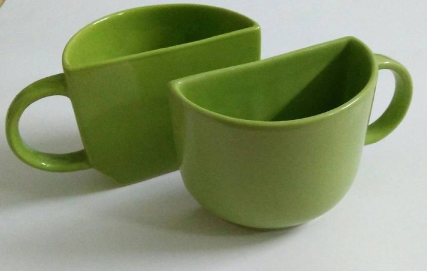 05b8b1254d4 Pancikaa Handcrafted Green Half Cups Set of 2 -
