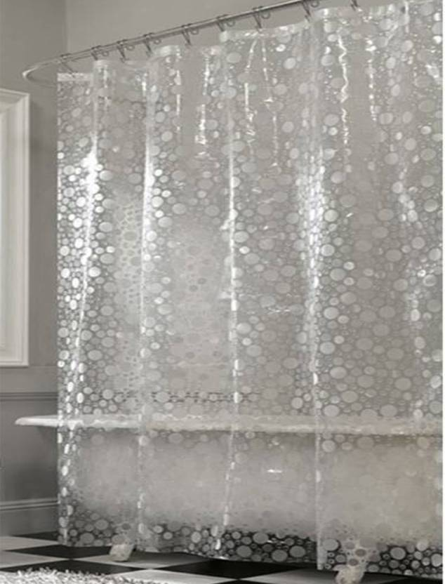 India Furnish 244 Cm 8 Ft PVC Shower Curtain Pack Of 2