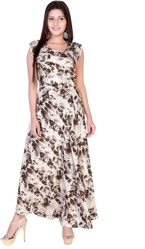 Fabcolors Women Maxi Brown 901a81d51