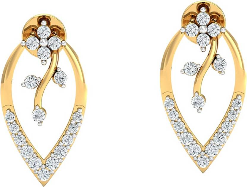93c28901d Flipkart.com - Buy AMANTRAN Classy Earrings in silver Yellow plated Cubic  Zirconia Silver Jhumki Earring Online at Best Prices in India