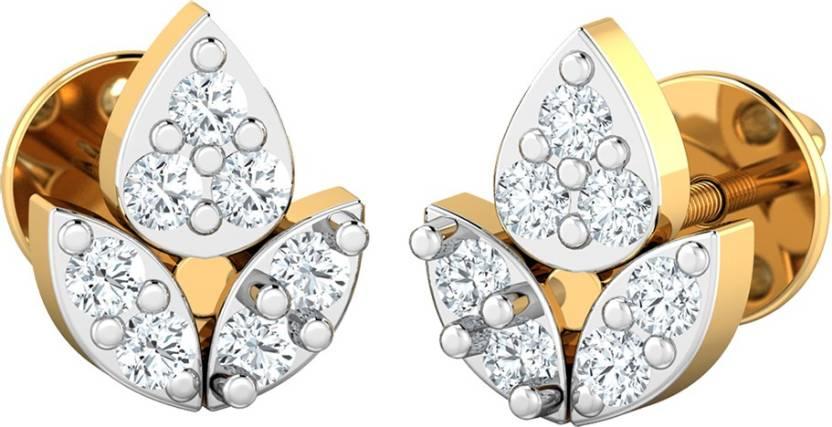 da8e6904d8962 Flipkart.com - Buy AMANTRAN Pretty Earrings In Silver Yellow Plated ...