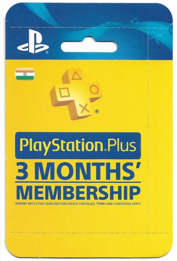 PlayStation Plus 3 Months Membership (India) for PS4, PS3