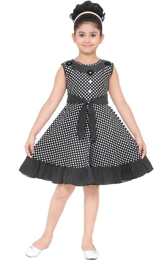 2757ccadcf21 N BAHUBALI Girls Midi/Knee Length Casual Dress Price in India - Buy ...