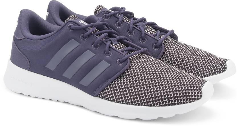 newest dcf6a a2c0e ADIDAS CF QT RACER W Running Shoes For Women (Purple)