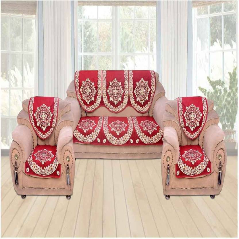 Marvelous The Intellect Bazaar Velvet Sofa Cover Price In India Buy Pabps2019 Chair Design Images Pabps2019Com