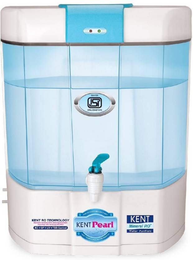 d741afd5fdc KENT RO kent pearl 8 L RO + UV + UF + TDS Water Purifier (white and blue)