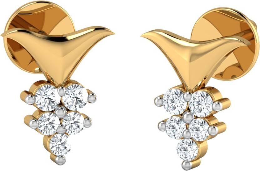 b8c6a6aed08ce Flipkart.com - Buy AMANTRAN Charming Earrings In Silver Yellow ...