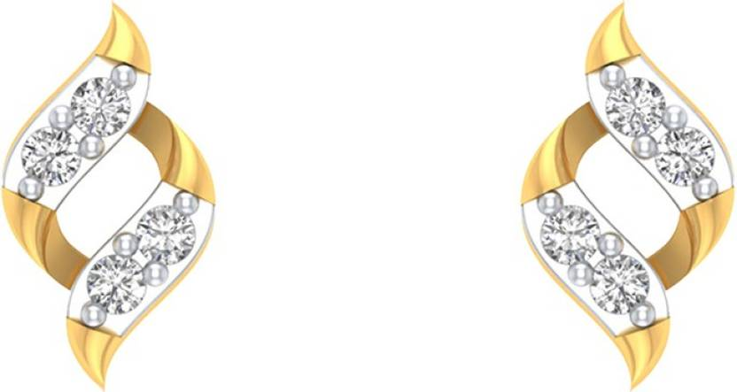 9049daf07475a Flipkart.com - Buy AMANTRAN Delicate Earrings In Silver Yellow ...